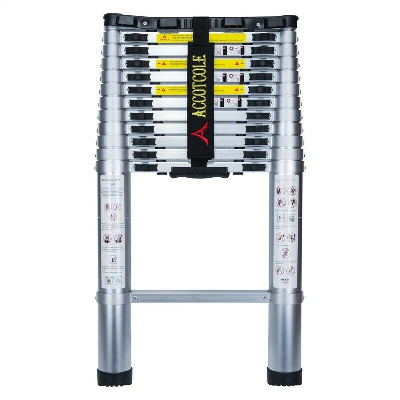 Telescoping Ladder Aluminum  13.5ft - 331 LB Capacity ACCOTCOLE