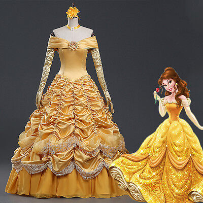 Outstanding Halloween Costumes (Belle Outstanding Costume Luxurious Gown Evening Dress Beauty and the Beast)
