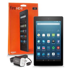 Amazon Fire HD 8 16GB ext. 200GB Noire avec étuit de protection.
