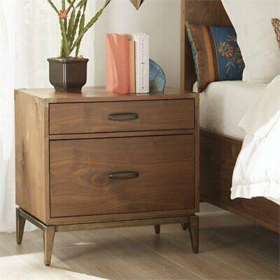 - Modus Adler 2 Drawer Nightstand in Natural Walnut