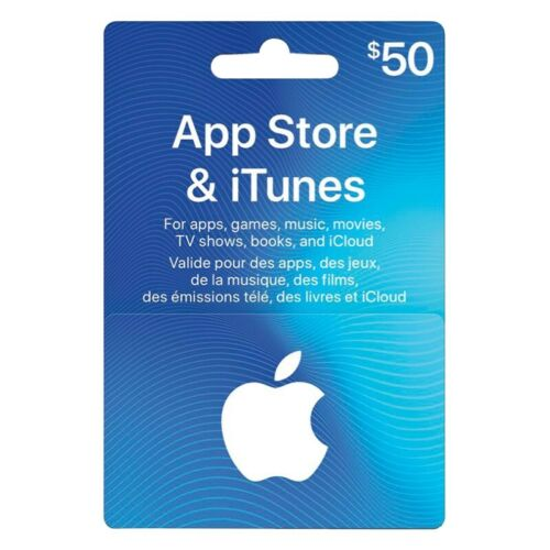 50 USD APPLE US ITUNES CARD Gift Certificate Digital Delivery  - $60.00