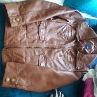 Brown Jacket! fits big