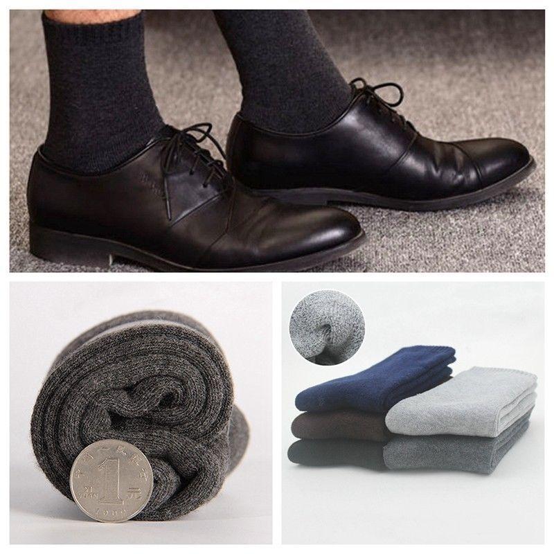 Mens Wool Socks Thick Winter Warm Wool Blend Hike Boot Work Wear Outdoor Socks