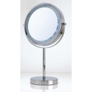 Chrome Vanity Mirror with Light and 10x Magnifier - Like new