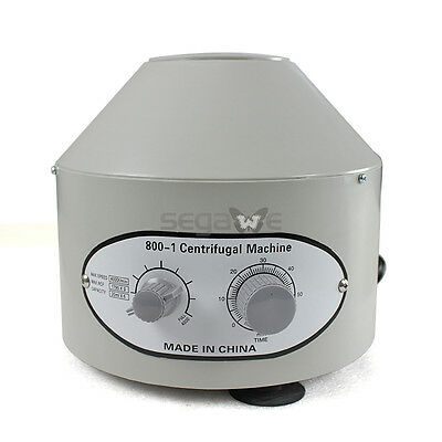 Electric Centrifuge Equipment 4000rpm 110v Lab Medical Practice W 6x 20ml Rotor