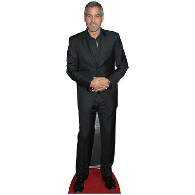 GEORGE CLOONEY Lifesize CARDBOARD CUTOUT Standee Standup Poster Celebrity F/S - Celebrity Cardboard Cutouts