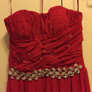 Selling Custom Made Chiffon Evening Gown with Crystals Oakville / Halton Region Toronto (GTA) image 2