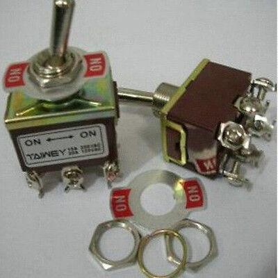 1pc 3v6v9v12v110v240v On On Screw Lock Cable Metal Plate Toggle Switch 2bw