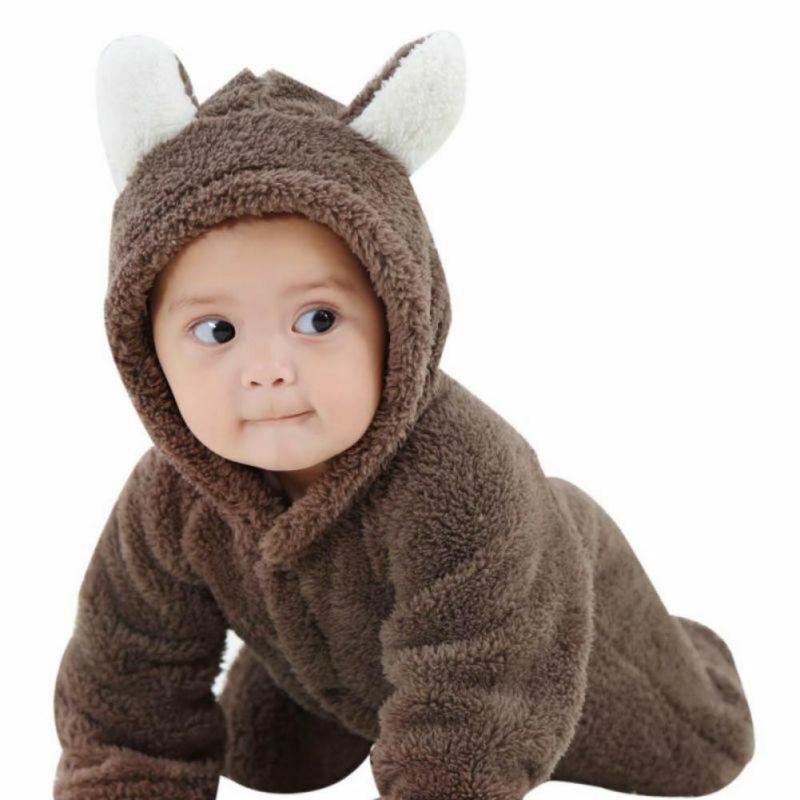 Newborn Kids Baby Boy Girl Infant Clothes Jumpsuit Romper Bodysuit Winter Outfit