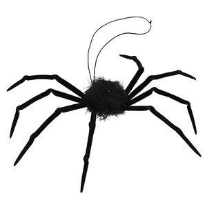 RAGNO-IN-NERO-HORROR-PELO-ANIMALI-amp-NATURA-TARANTOLA-Vestito-per-Halloween