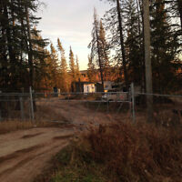 Fenced secure acreage for rent Conklin Alberta