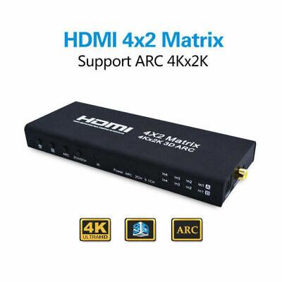 4Kx2K 3D 1080P HDMI Matrix 4x2 4 In 2 Out Schalter Switcher Splitter