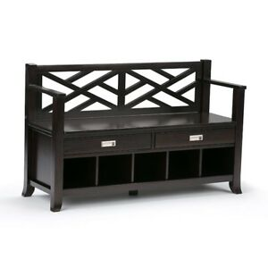 BRAND NEW! Simpli Home Sea Mills Entryway Storage Bench