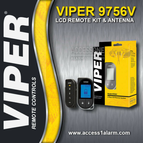 Viper 5706V 2-Way LCD 1-Mile Remote Control Kit With Antenna 7756V 7656V Remotes