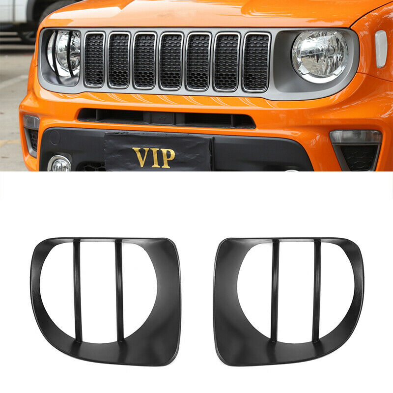 Car Parts - Car Headlight Decoration Cover Trim for Jeep Renegade 2019 2020 Car Accessories