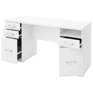 Transitional Computer Desk With drawers  White (NEW)$225