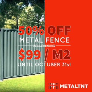Our best offer is back! Renew your metal fence for just $99 M2