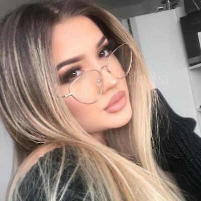 Trendy Clear Lens Cat Eye Glasses Unisex 2019 Vintage Metal Spectacle Frames