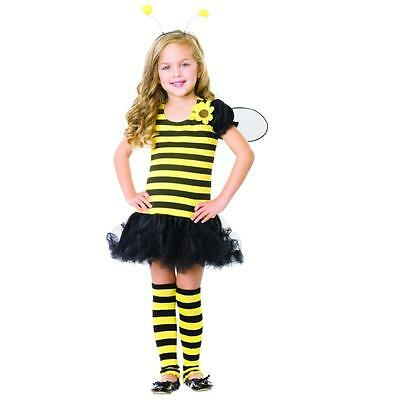 Honey Bumble Bee Girls Toddler  Costume w/ Wings XS 3-4, S 4-6, M 7-10, L 10-12  - Bumble Bee Costumes