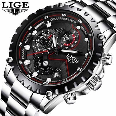 MALIGE Watch Men Fashion Sport Quartz Top Brand Luxury Business Waterproof Watch