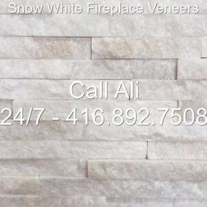 White Fireplace Veneers Sparkling Outdoor Veneers BBQ Veneer