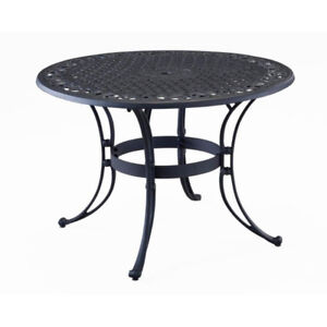 Home Styles Biscayne 48 in. Black Outdoor Patio Dining Table