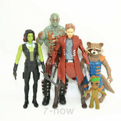 Set 5 pcs Guardians of the Galaxy Vol. 2 Star-Lord Rocket Groot action
