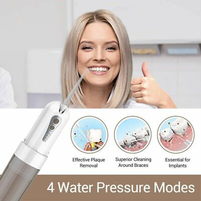 Cordless Water Jet Flosser Oral Dental Irrigator With 7-d And 200 Ml Reservoir