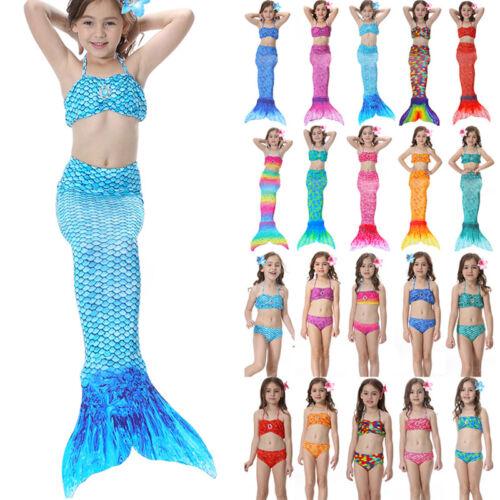 Schwanzflosse Meerjungfrau Kostüm Kinder Mädchen Badeanzug Bademode Schwimmanzug