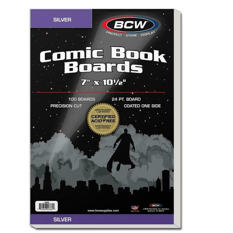 300 BCW SILVER AGE COMIC BOOK BAGS AND BACKER BOARDS