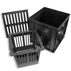 Hofablauf -Bodenablauf - Regenablauf - Einlaufkasten aus GUSS DN 75-160 30x30x30