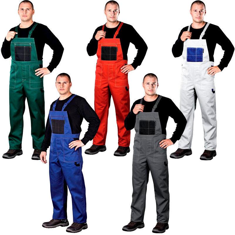 5 Farben Arbeitshose Latzhose Arbeitslatzhose Sicherheitshose Gr. 46-62