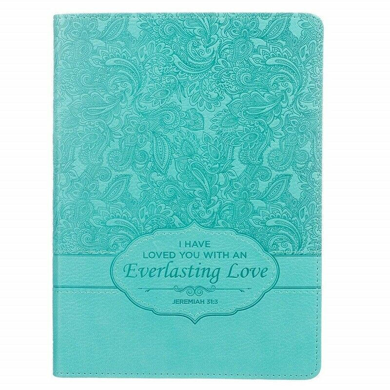 Christian Journal For Women Girls Teen Turquoise Writing Qua