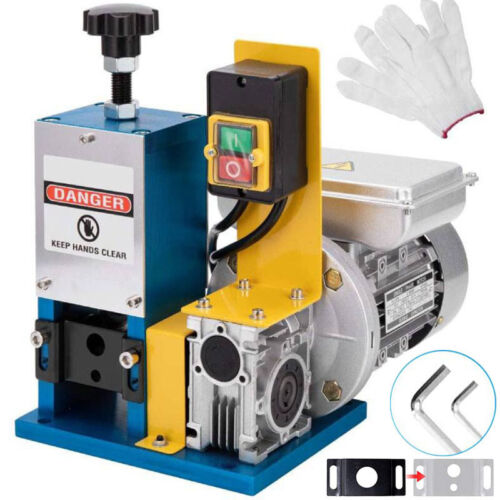 Electric Wire Stripping Machine 1/4HP Electric Cable Stripper 1.5-25mm w/ Glove