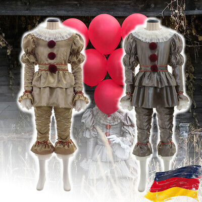 Pennywise Das Clown Festgeleg Outfits Es Stephen King Cosplay Karneval Kostüm DE