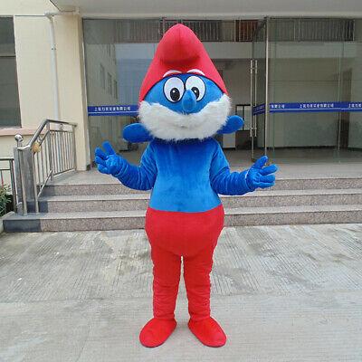 Great Design Papa Smurfs Christmas Cartoon Mascot Costume Character Fancy Dress