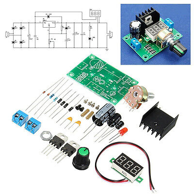Lm317 Digital Display Adjustable Regulated Power Supply Board Module Diy Kits Ne