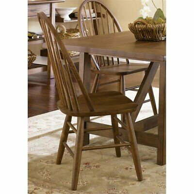 Liberty Furniture Farmhouse Windsor Back Dining Side Chair in (Back Oak Side Chair)