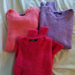LOT OF GIRLS SIZE 14 GEORGE FUZZY SWEATERS