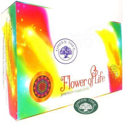 Big Green Raucher (FLOWER OF LIFE von Green Tree Natural Incense 12x 15g BIG PACK Räucherstäbchen)