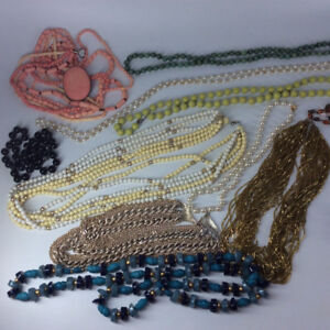 Vintage Collectible Early 1960' s & 1970's Bead Necklaces