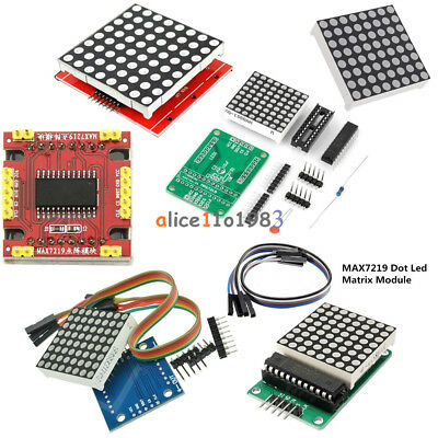 8x8 3mm5mm Dot Matrix Display Redfull Color Rgb Led Max7219 Diy Kit F Arduino