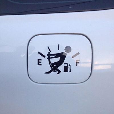Funny Car Vinyl Sticker High Gas Consumption Decal Fuel Gage Empty Black VZ