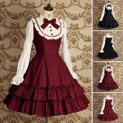 Japanisch Traditionell Lolita Dienstmädchen Kleid Cosplay Outfit Kostüme - Dienstmädchen Kostüm Japanische