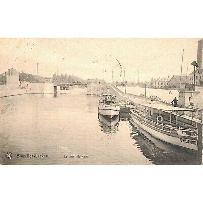 Bruxelles - Laeken. Le pont du canal.