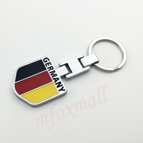 Universal Car Parts Keyring key Chain Holder Germany Flag Shield Style Decorate