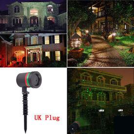UK New STAR SHOWER Brilliant Star Light Garden Shower Laser Light Show Christmas