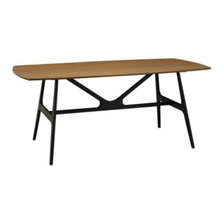 1.8m Fila Dining Table Cocoa on Black/White