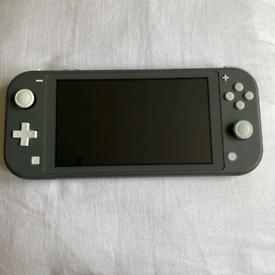 Nintendo switch lite grey with box