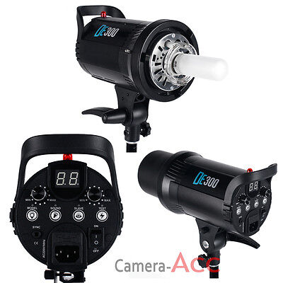 Digital LED Display 300W Flash Strobe Studio Lighting Head Bowens Mount DE300